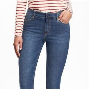 OLD NAVY ▪ Super Skinny Mid-Rise dark wash jeans